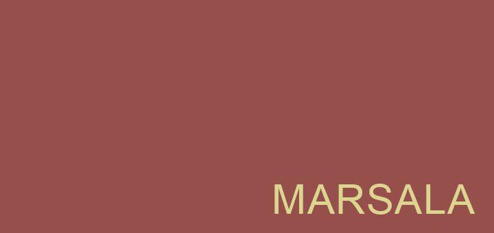 Marsala – culoarea anului 2015