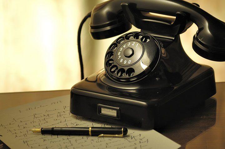 telefon vintage cu rotita