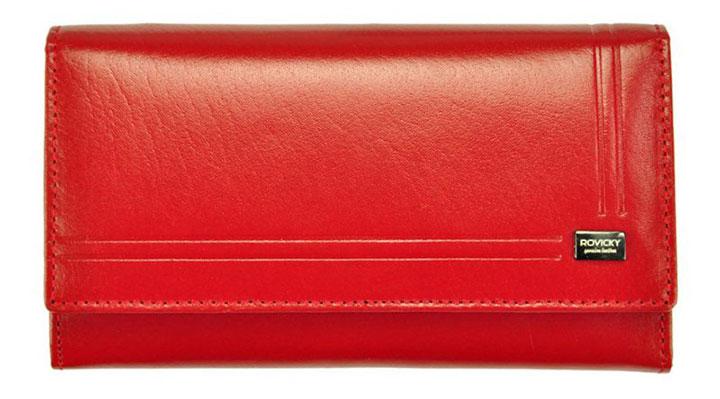 portofel din piele rosie