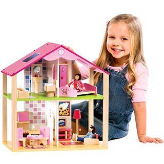 casa lemn papusi pentru fetite