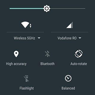android quick toggles comutatoare rapide conexiune