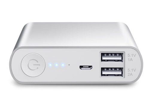 baterii externe cu doua porturi USB si LED de stare