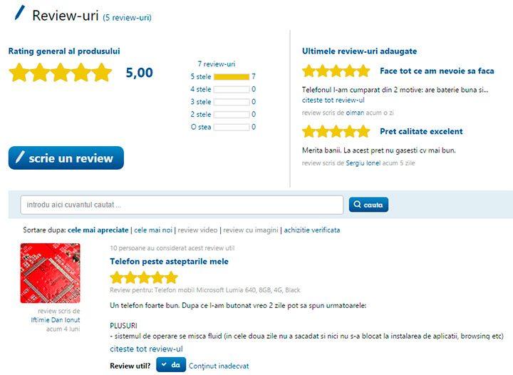 Comentariile si review-urile cumparatorilor