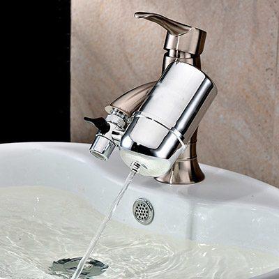 sistem de filtrare a apei cu filtru ceramic si montare pe robinet