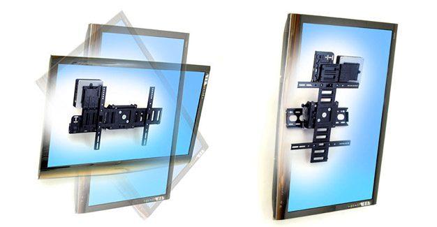 Suport tv de perete cu reglarea inclinarii si functie de rotire (pivot)
