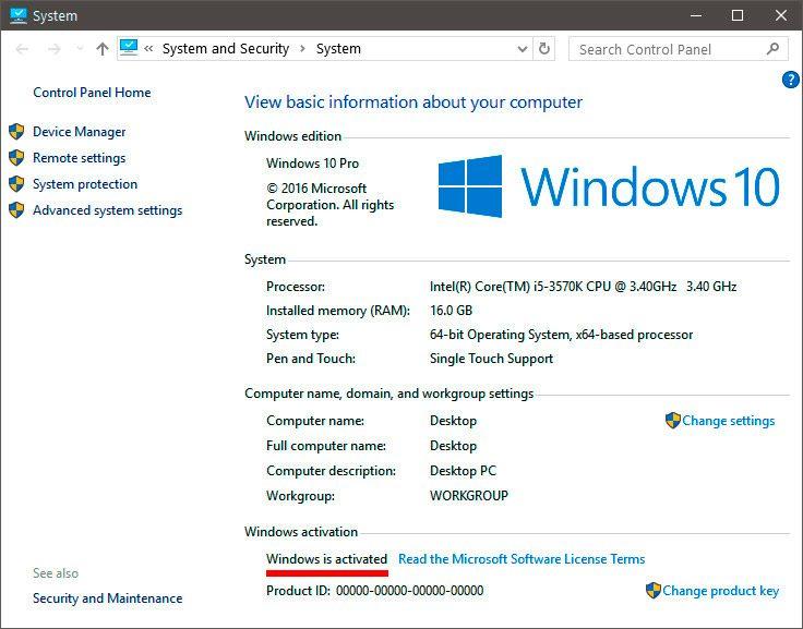 status activare microsoft windows