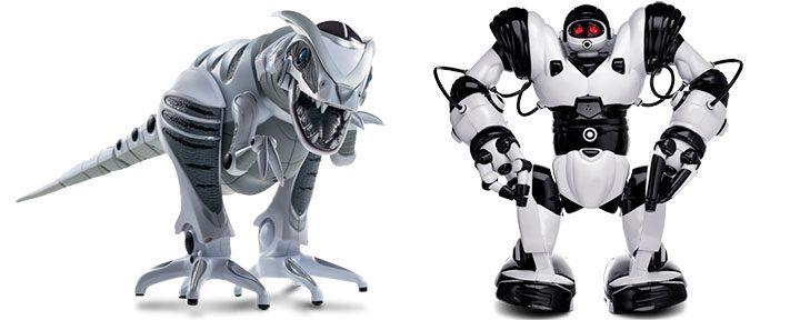 jucarii pentru copii WowWee Robosapien si Roboraptor