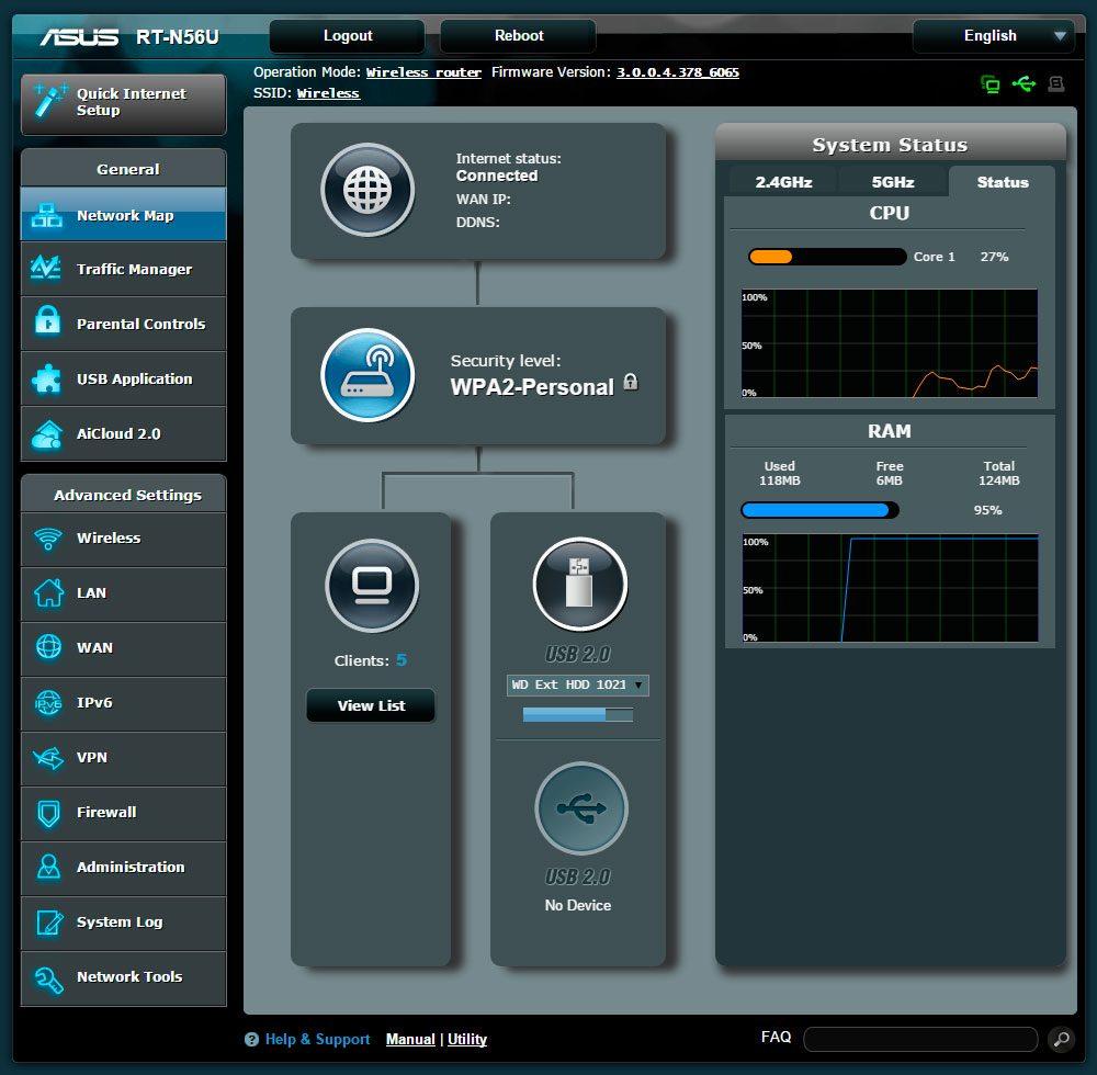 interfata de administrare router wireless