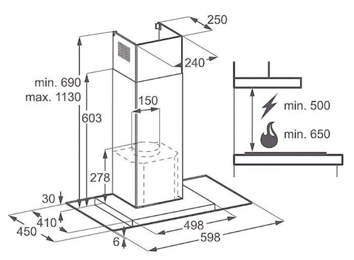 masurare dimensiuni hota specificatii montaj