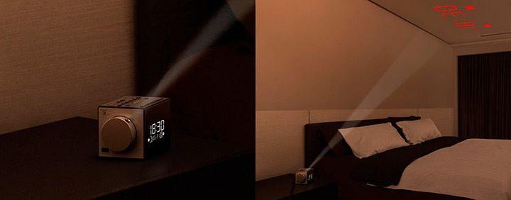ceas digital cu proiectie pe perete