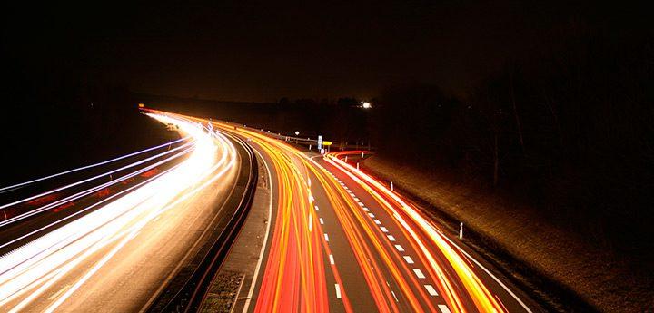 trafic intens pe autostrada