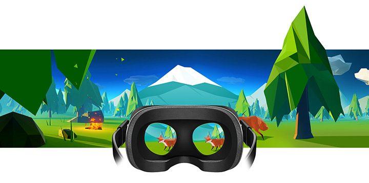 realitate virtuala digitala vazuta printr-o pereche de ochelari VR