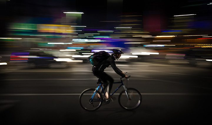 curier rapid pe bicicleta