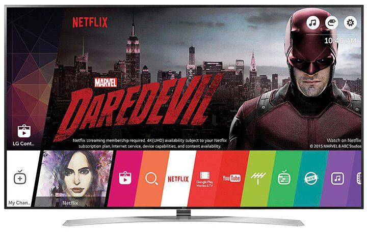 interfata cu utilizatorul smart tv