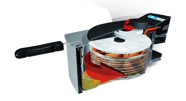friteuza cu cos cu centrifugare