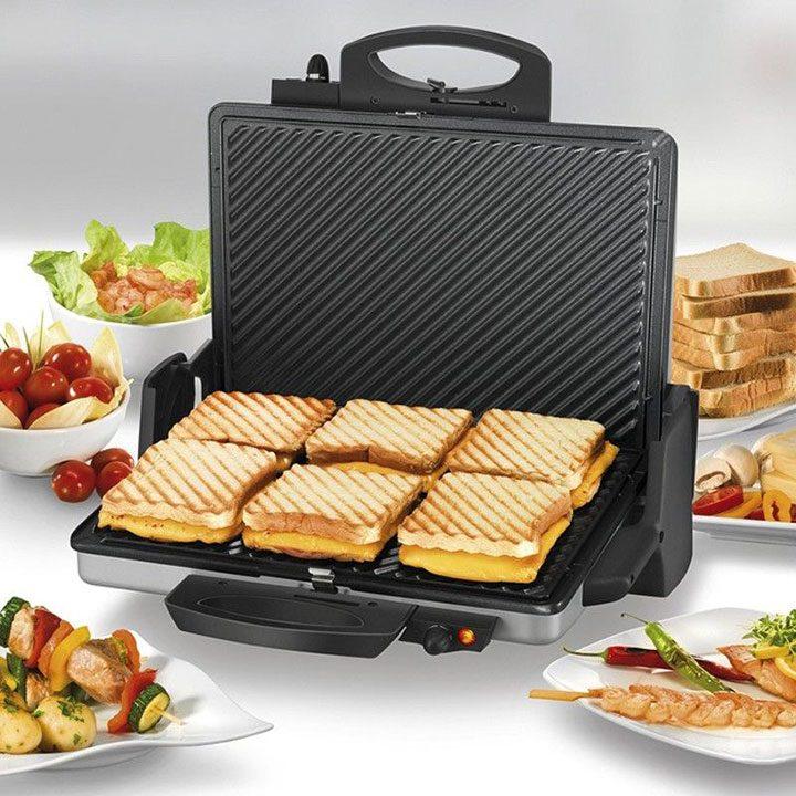 sandwich maker cu 6 sandvisuri capacitate