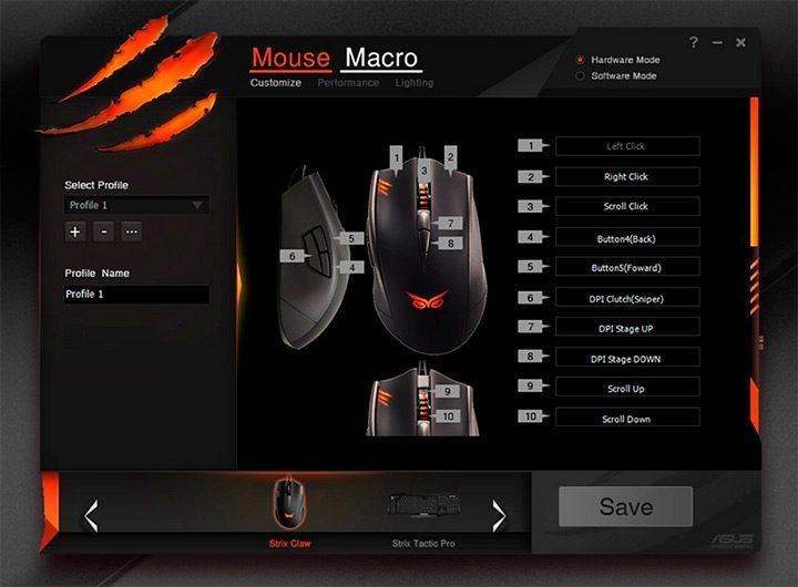 software programare butoane si profile mouse de gaming
