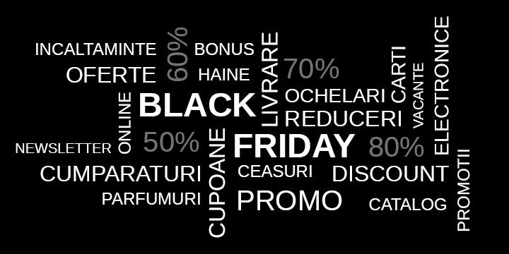 Black Friday Romania 2020 – cand are loc, lista magazine participante, reduceri