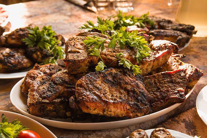 carne fripta pe gratar