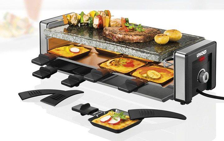 gratar cu raclette tavite si tigai cu manere izolate