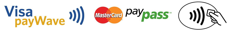 logo card contactless visa paywave mastercard paypass