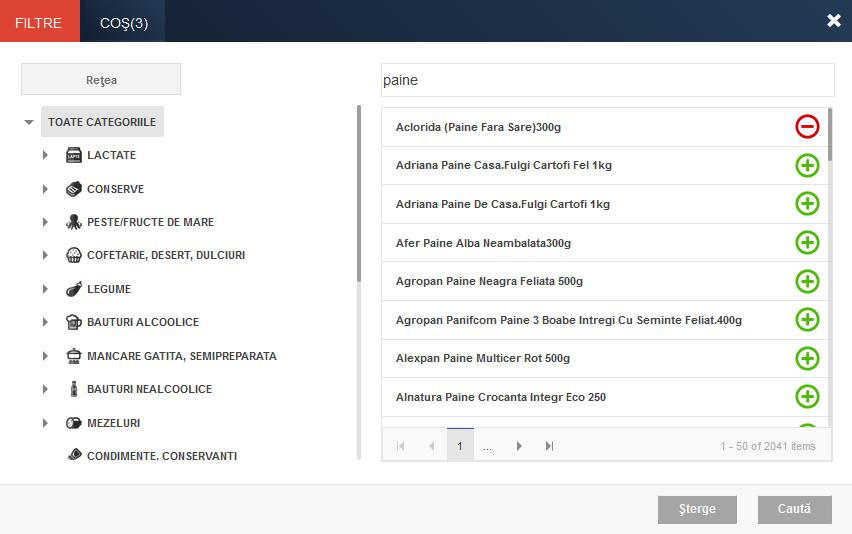 monitorul preturilor alimentelor - selectie produse