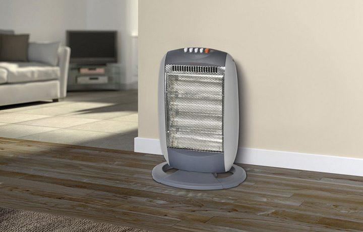 Incalzirea locuintei cu un radiator electric cu halogen/quartz