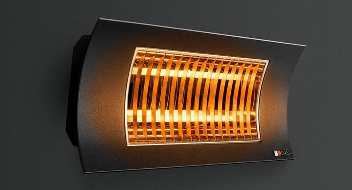 radiator cu halogen cu montare pe perete