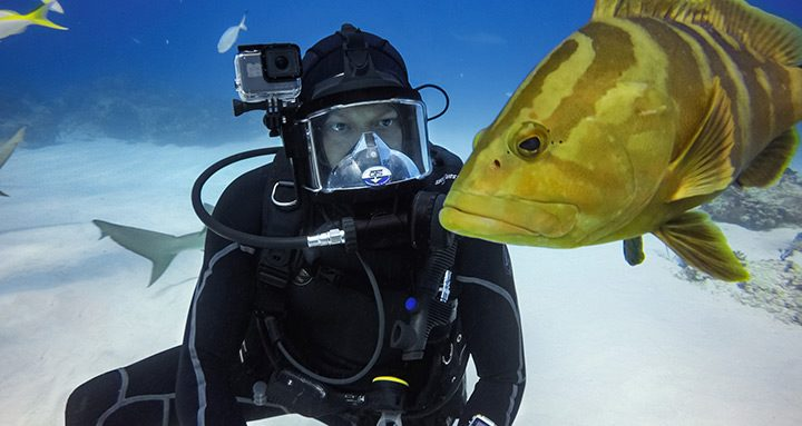 camera video sport cu carcasa subacvatica