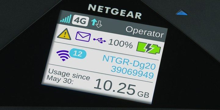 ecran LCD router mobil