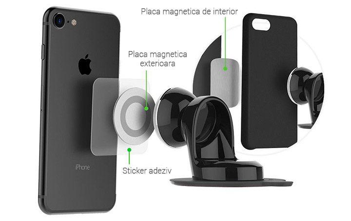 suport auto universal telefon magnetic