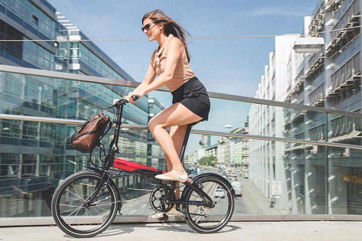 ciclism cu bicicleta pliabila