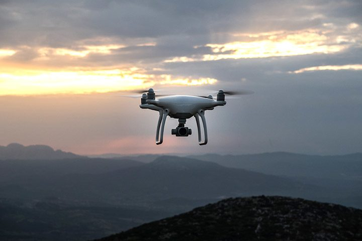 drona la altitudine mare