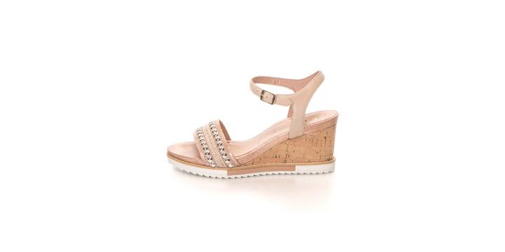 Sandale Tamaris din piele si textil