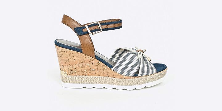 Sandale Tamaris cu dungi