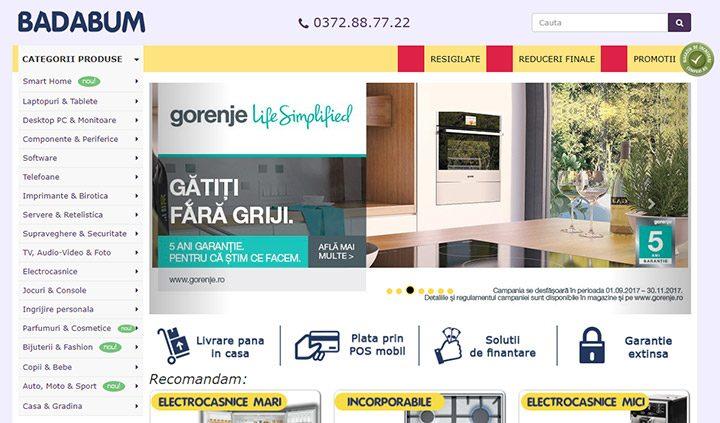 Badabum: magazin online de electronice si electrocasnice cu promotii bune