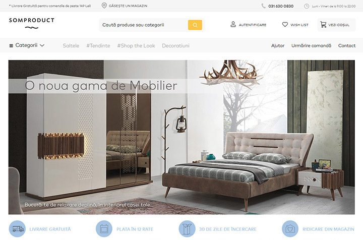 Somproduct: un magazin online de unde-ti decorezi casa cu mobilier de calitate