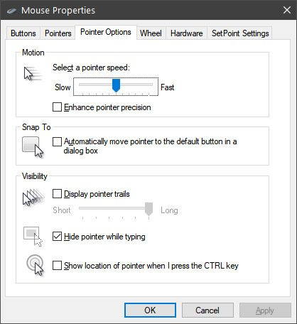 sensibilitate cursor setari Windows