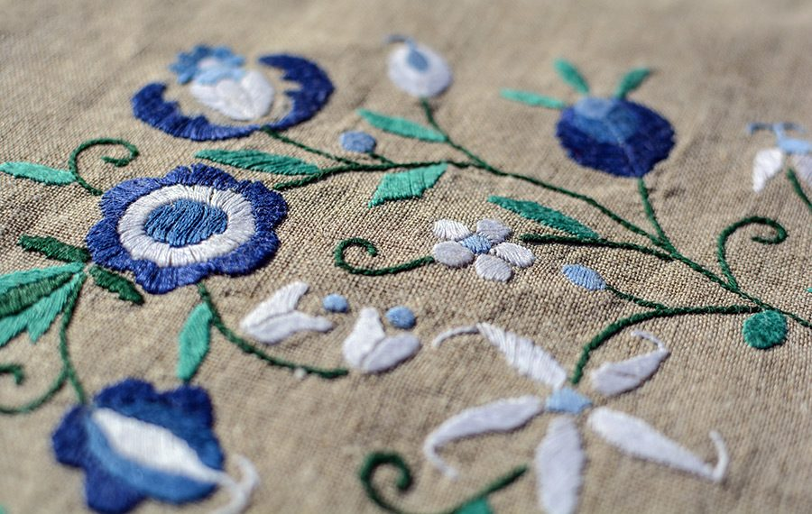 broderie material textil
