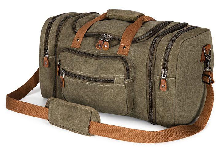 geanta de voiaj cu buzunare exterioare