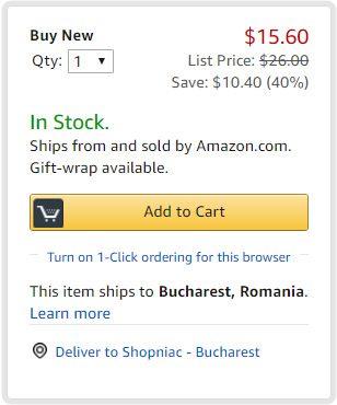 amazon produs cu livrare in Romania