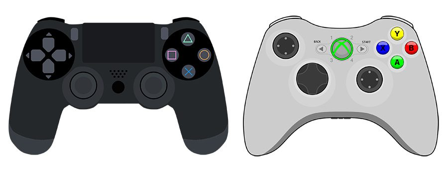 controller playstation vs xbox