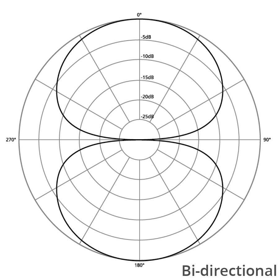 directionalitate microfon bi-directional
