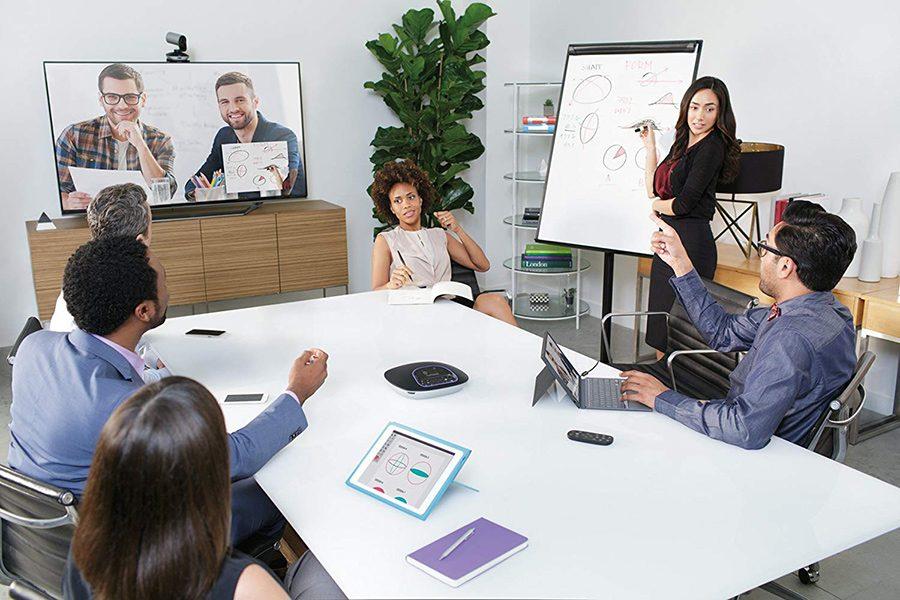 video conferinta birou
