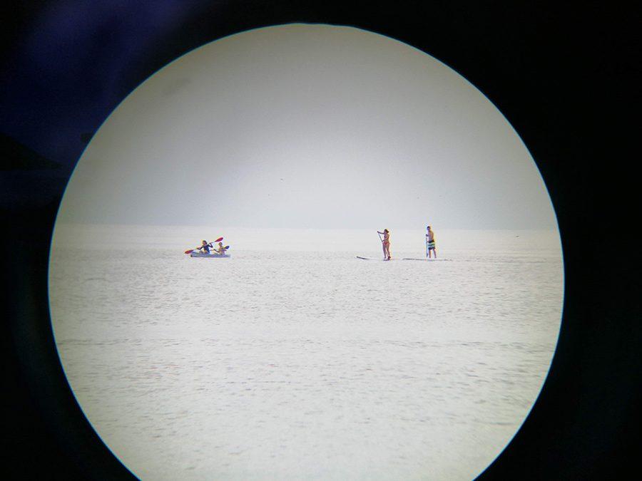 telefotografie prin luneta cu telefonul mobil