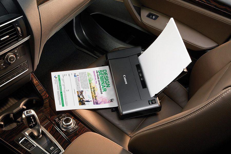 imprimanta portabila in masina