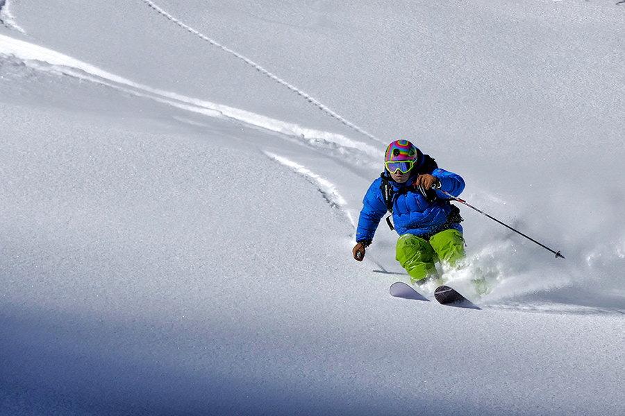 ski downhill rapid