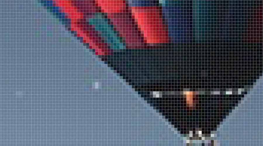 zoom fotografie pixeli vizibili