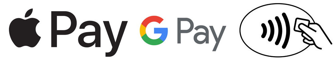 logo apple pay google pay conectless