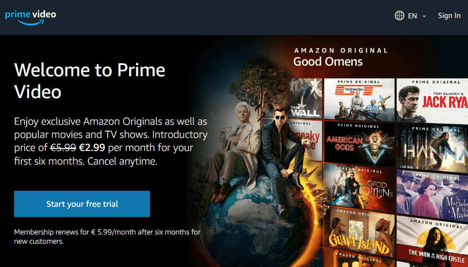 amazon prime video filme seriale online